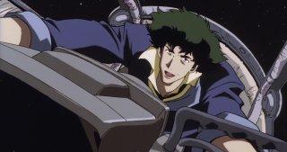 Cowboy Bebop: Spike mentre pilota un astronave