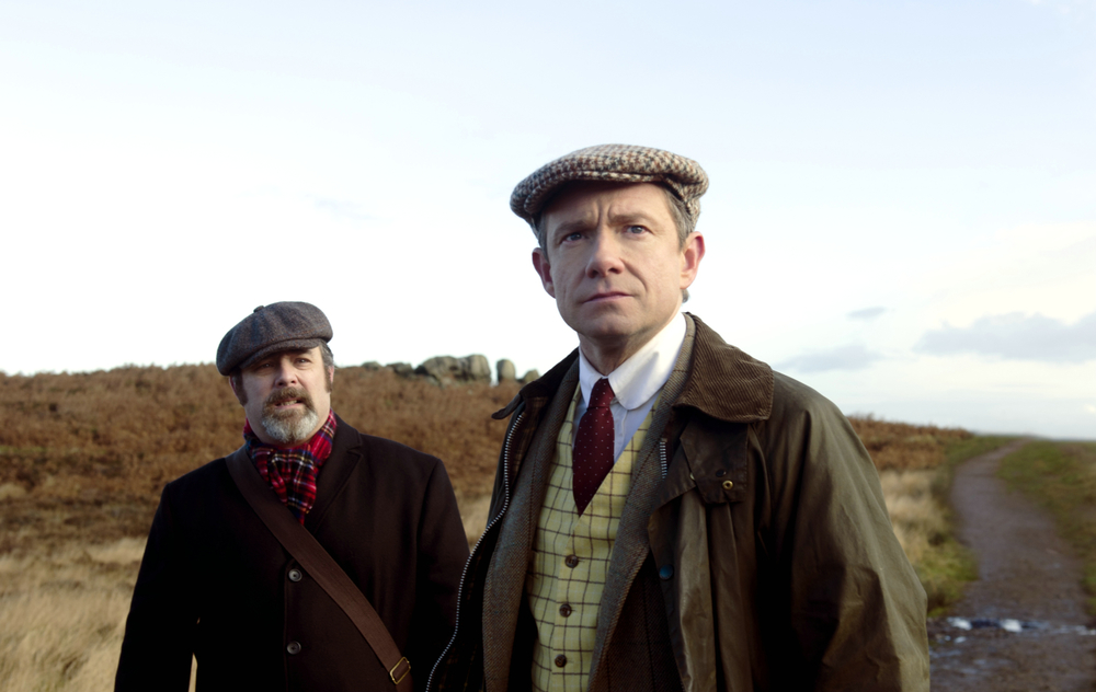 Ghost Stories: Martin Freeman e Andy Nyman in una scena del film