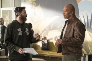 Rampage - Furia animale: Dwayne Johnson e il regista Brad Peyton sul set del film