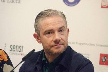 Martin Freeman durante la conferenza di Lucca Film Festival