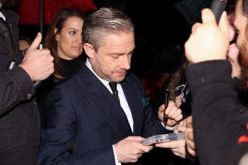 Martin Freeman sul red carpet del Lucca Film Festival