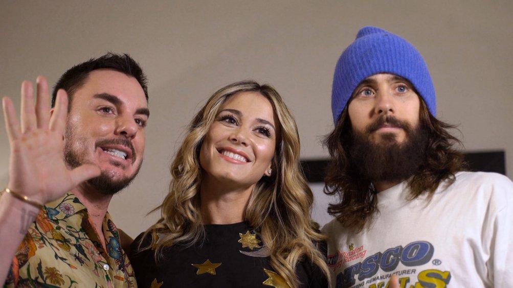 Jared Leto e i 30 Seconds to Mars in studio con Diletta Leotta