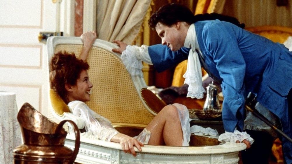 Valmont: Colin Firth e Annette Bening in una scena del film di Milos Forman