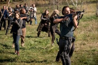 The Walking Dead: Andrew Lincoln in una scena dell'episodio Wrath