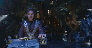 Avengers: Infinity War, Chris Pratt in una scena del film