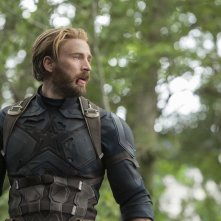 Avengers: Infinity War, Chris Evans in una scena del film