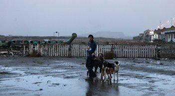 Dogman: Marcello Fonte in una scena del film