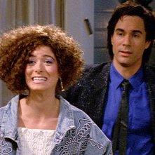 Will & Grace: Debra Messing ed Eric McCormack in una foto della serie
