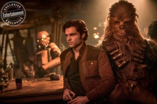 Solo: A Star Wars Story, Alden Ehrenreich a fianco di Chewbacca