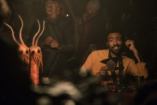 Solo: A Star Wars Story, Donald Glover in una foto del film