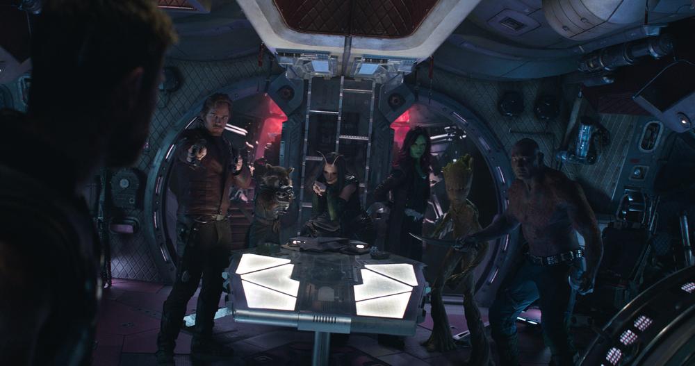 Avengers: Infinity War, Chris Pratt in una scena del film