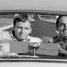 Jean-Louis Trintignant e Vittorio Gassman in una scena de Il sorpasso