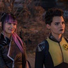 Deadpool 2: Brianna Hildebrand e Shioli Kutsuna in un momento del film