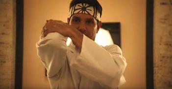 Cobra Kai: l'attore Ralph Macchio in una foto della serie