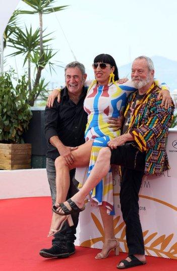 The Man Who Killed Don Quixote, Terry Gilliam scherza con Rossy De Palma e Sergi Lopez
