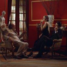 Rudy Valentino: Pietro Masotti, Tatiana Luter e Alessandro Haber in una scena del film