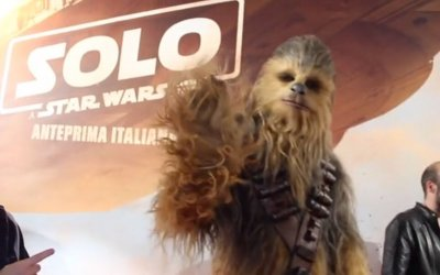 Solo: A Star Wars Story - Il red carpet italiano con Chewbacca