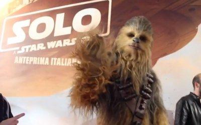 Solo: A Star Wars Story - Il red carpet italiano con Chewbacca
