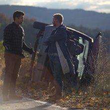Hurricane - Allerta uragano: Toby Kebbell e Ryan Kwanten in una scena del film
