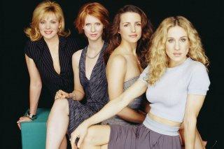 Sex and the City: Sarah Jessica Parker, Kim Cattrall, Kristin Davis e Cynthia Nixon in un'immagine promozionale