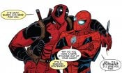 Deadpool & Spider-Man diventa un crossover romantico in un poster