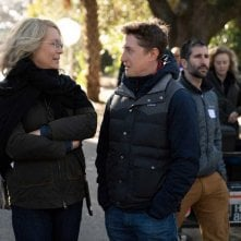 Halloween: Jamie Lee Curtis sul set col regista David Gordon Green
