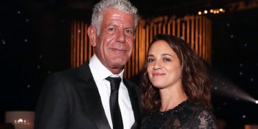 Asia Argento con Anthony Bourdain