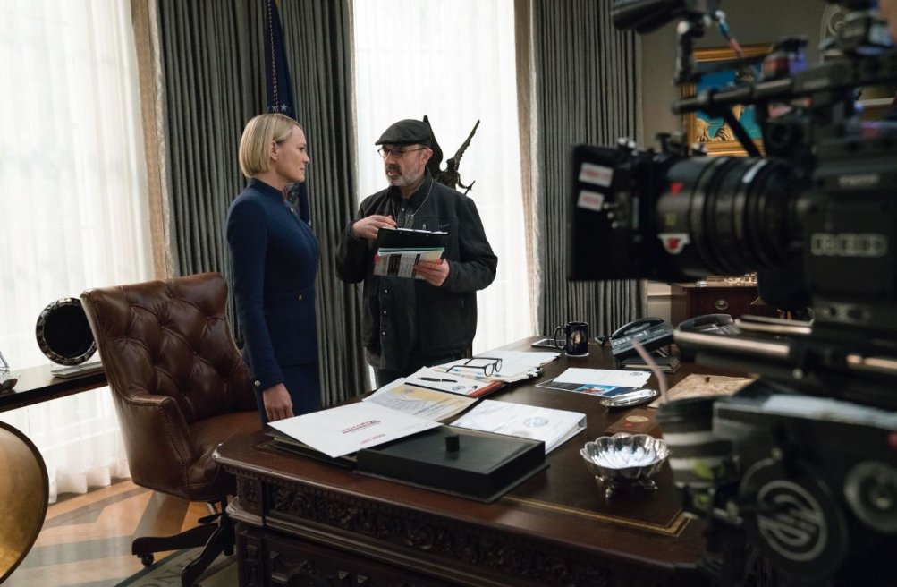 House of Cards 6: Robin Wright sul set