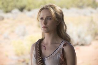 Westworld: Evan Rachel Wood in una scena dell'episodio Vanishing Point
