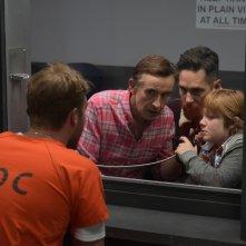 A Modern Family: Paul Rudd, Steve Coogan e Jack Gore in una scena del film