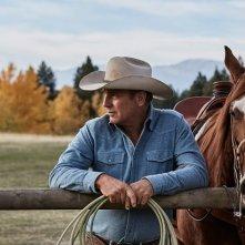 Yellowstone: Kevin Costner in una scena della serie