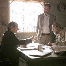 Io, Dio e Bin Laden: Nicolas Cage, Denis O'Hare e Rainn Wilson in una scena del film
