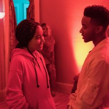 The Hate U Give: Amandla Stenberg e Algee Smith in una scena