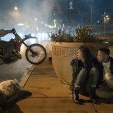 La prima notte del giudizio: Lex Scott Davis e Joivan Wade in una scena del film