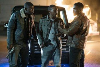 La prima notte del giudizio: Y'lan Noel, Mo McRae e Jermel Howard in una scena del film