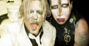 Johnny Depp e Marilyn Manson nel video Say10