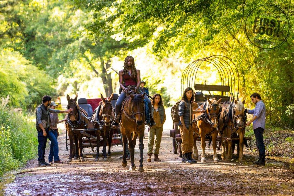 The Walking Dead: Danai Gurira in una foto della nona stagione