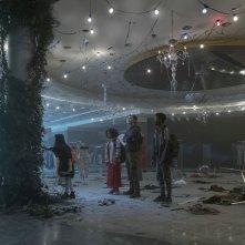 Darkest Minds: Skylan Brooks, Amandla Stenberg, Harris Dickinson e Miya Cech in una scena del film