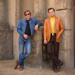 Once Upon A Time in Hollywood: Brad Pitt e Quentin Tarantino nella prima foto del film