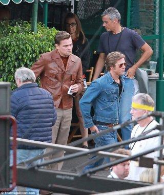 Once Upon A Time in Hollywood: Leonardo DiCaprio e Brad Pitt sul set
