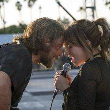 A Star is Born: Bradley Cooper e Lady Gaga in un momento del film
