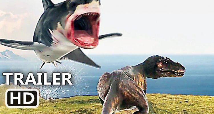sharknado 6 trailer quotshark vs trexquot movieplayerit