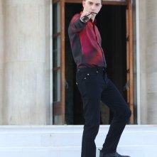 Venezia 2018: Michele Riondino, padrino della manifestazione, posa davanti ai fotografi