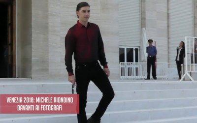 Venezia 2018: Michele Riondino al photocall del padrino.