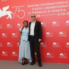 Venezia 2018: Yalitza Aparicio e Alfonso Cuaron durante il photocall del film Roma