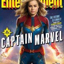 Brie Larson è Captain Marvel sulla cover di EW