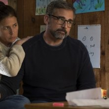 Beautiful Boy: Maura Tierney e Steve Carell in una scena del film