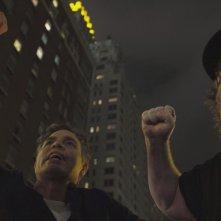 Fahrenheit 11/9: Michael Moore e Mark Ruffalo in un'immagine del documentario