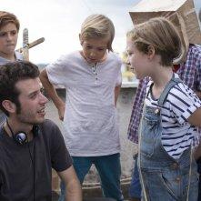 Guarda in alto: il regista Fulvio Risuleo sul set del film
