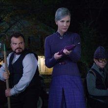Il mistero della casa del tempo: Cate Blanchett, Owen Vaccaro e Jack Black in un momento del film